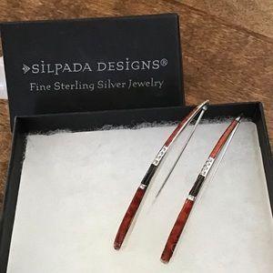 Silpada Sterling Silver Coral Threader Earrings